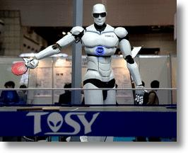 TOPIO, a ping pong playing robot