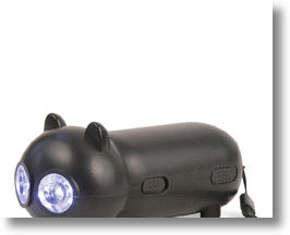 Cat LED Flashlight Runs Green, Shines White