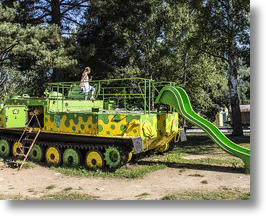Decommissioned Czech Tank Adds Slide, Conquers Playground