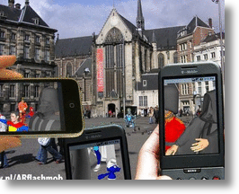 Augmented Reality Flashmobs Bring Hallucinations To Life In Amsterdam