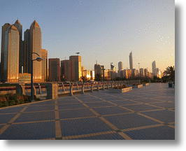 Abu Dhabi Skyline. Photo by FitzDaCat.