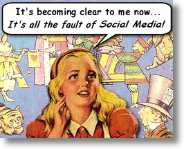 Alice in Wonderland and Social Media