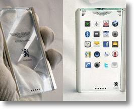 Aston Martin and Mobiado Glass Phone
