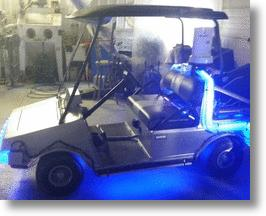 Back to the Future Golf Cart