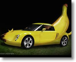 Pineapple and Banana Green Cars