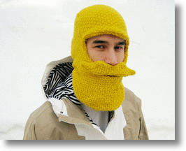 Beard Head Knit Cap – Washable Whiskers For Ski, Snow & Show
