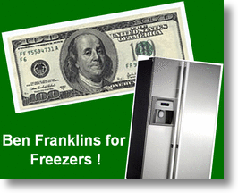 Ben Franklins for Freezers Sequel to Cash for Clunkers