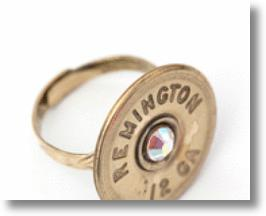 A bullet ring from Bullet Designs, LLC.