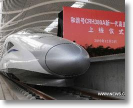 Chinese High-Speed Train Smashes World Rail Speed Record