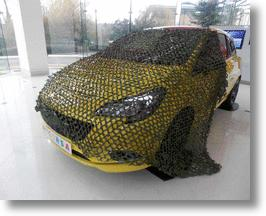 2015 Vauxhall Corsa's Optional Camouflage Net Tones Down Bright Bodies