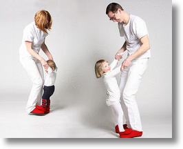 Parents and Children in Dance Shoes