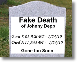 Fake Death Of Johnny Depp