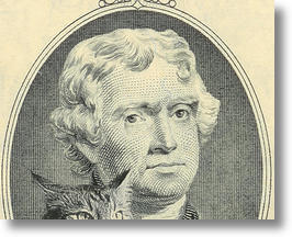 Jefferson & Hank On Two Dollar Cat Bill