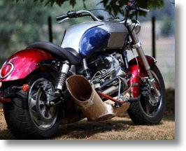 Modified Triumph Motorcycle Powered By Helicopter Turbine Engine