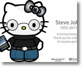 Hello Kitty's Tribute to Visionary Apple CEO, Steve Jobs