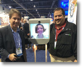Forbes Journalist Attends CES 2014 Using Telepresence Robot