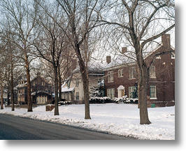 Houses in Winter. Photo courtesy of UIC Digital Collections.