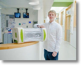 2014 James Dyson Award winner, James Roberts