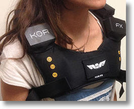 The KOR-FX Haptic Feedback Vest Will Let You Feel Your Media