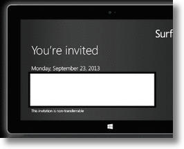 Microsoft Surface Announcement Coming September 23