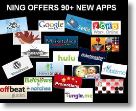Ning's 90 new apps