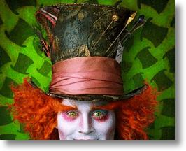 Johnny Depp as Mad Hatter in Tim Burton's Alice in Wonderland