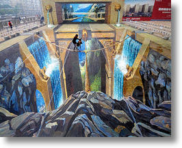 World&#039;s Largest 3D Street Painting Requires No Glasses