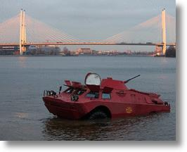 My Other Taxi Is A Pink Russian Army Amphibious Scout Vehicle