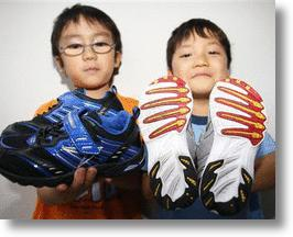 Japanese Asymmetric Soled Sports Shoes Keep Kids On Track