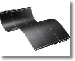 Flexible solar panel from solopower.com