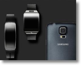 Samsung Galaxy S5, Gear 2, and Fit.