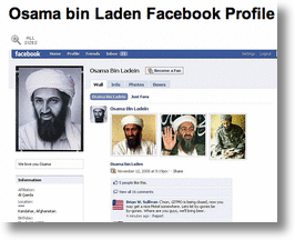 Osama bin Laden on Facebook!
