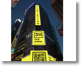 QR Code in Times Square for Internet Week NYC!