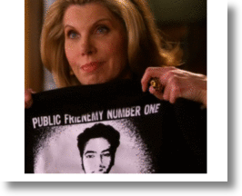 "Product Endorsment used as legal remedy in the Good Wife episode ""Net Worth"""