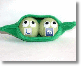 Google & Facebook - two peas in a pod!