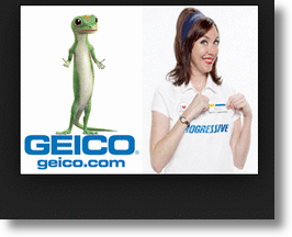 Car Insurance's Mascots Flo & The Gecko Are Social Media SuperStars