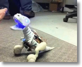 Robotic T-Rex Boomer Is Absolutely Adorable