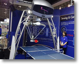 Japanese Firm Omron's Prototype Robot Plays Ping Pong