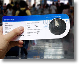 New Airport Compass Boarding Pass