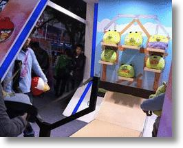 Angry Birds Carnival Booth Game Features Real Slingshot, Plush Birds &amp; Pigs