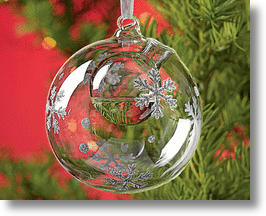 Snowflake Bubble Aromatherapy Ornament