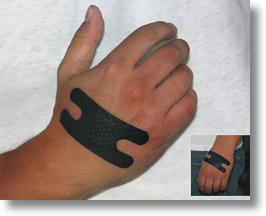 Black Leather Bandages