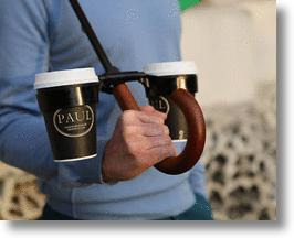 Morella: a cupholder that attaches to your umbrella