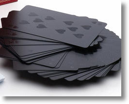 Monochromatic Black Playing Cards