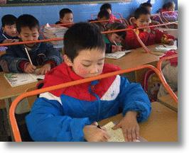 "Anti-Myopia School Desks ""Bar"" Chinese Students From Nearsightedness"