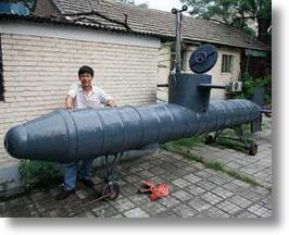 Chinese Farmer Builds Submarine