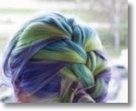 Hair Style Colored With Hair Chalk