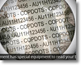 Copdots for property protection