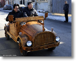 Bark & Spark: Chinese Carpenter Crafts Wooden Electric Car