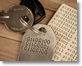 Dad Binary Code Keychain